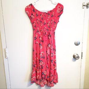 Justice Girls Floral Smocked Dress